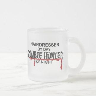 Hairdresser Zombie Hunter Frosted Glass Mug