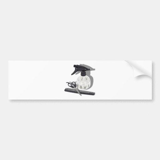HairdresserItems060910Shadows Bumper Stickers