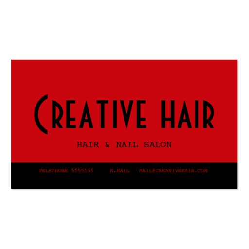 Hairdresser's Appointment Card Business Card