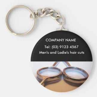 Hairdressing Basic Round Button Key Ring