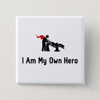Hairdressing Hero 15 Cm Square Badge
