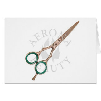 Hairdressing Scissors-Aerona Beauty Greeting Card