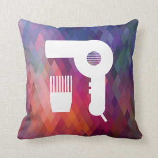 Hairdryer Brushes Pictogram Cushion
