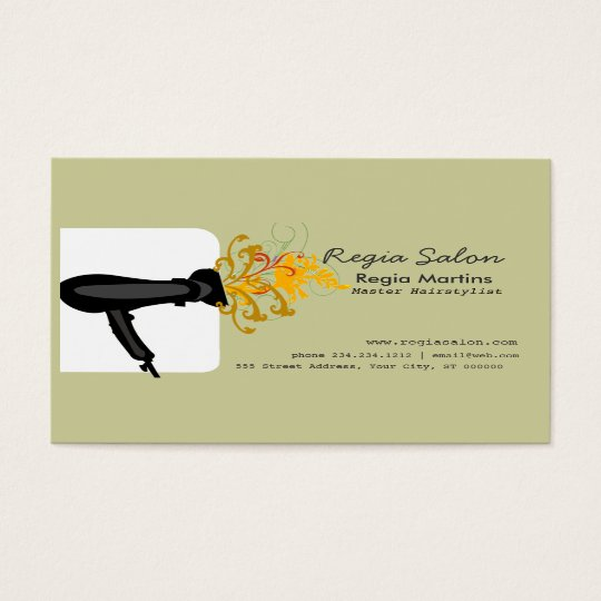 Hairdryer Stylists & Hair Salons Business Card
