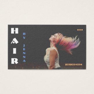 Hairflip Rainbow Hairstylist Business Card