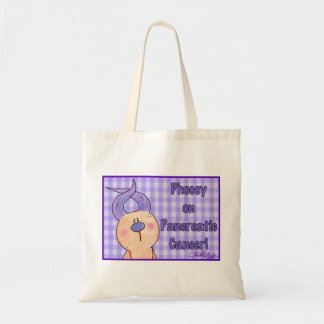 Hairless Hare Phooey on Pancreatic Cancer Budget Tote Bag