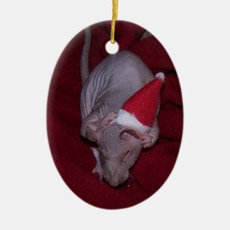 Hairless Pet Rat Lydia Ornament