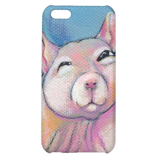 Hairless rat art fun sweet adorable pet portrait iPhone 5C case