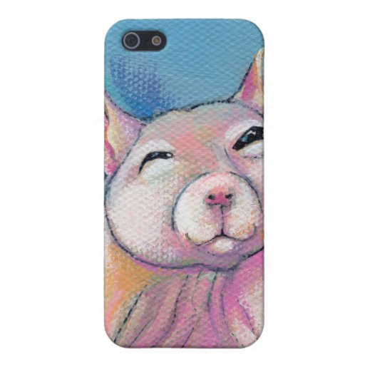 Hairless rat art fun sweet adorable pet portrait cover for iPhone 5