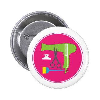 Hairstyle tools 6 cm round badge