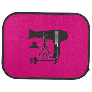 Hairstyles tools car mat