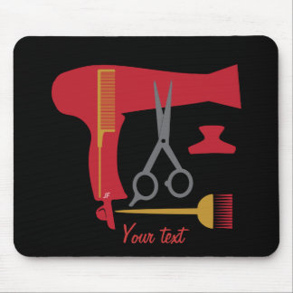 Hairstyles tools mouse mat