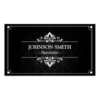 Hairstylist Appointment Card - Shadow of Damask Pack Of Standard Business Cards