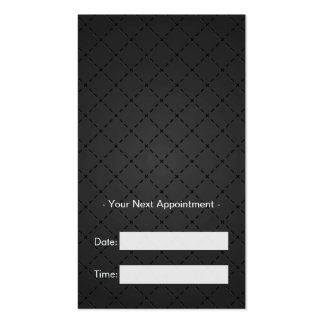 Hairstylist Appointment - Retro Black and White Pack Of Standard Business Cards