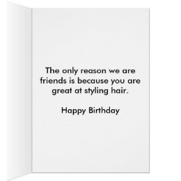 Funny hairdresser cards invitations zazzle hairstylist birthday card bookmarktalkfo Images