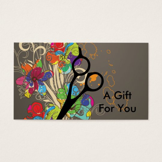 hairstylist hair stylist gift card certificate