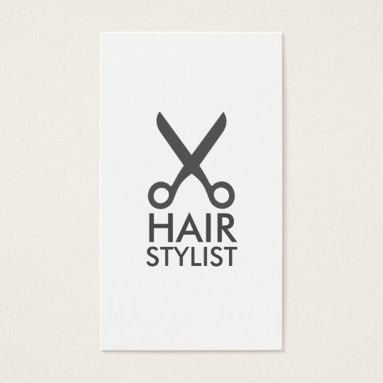 hairstylist hair stylist minimalist chic simple business card