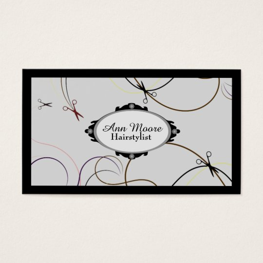 Hairstylist hairdresser salon service cover business card