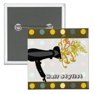 HairStylist Salons 15 Cm Square Badge