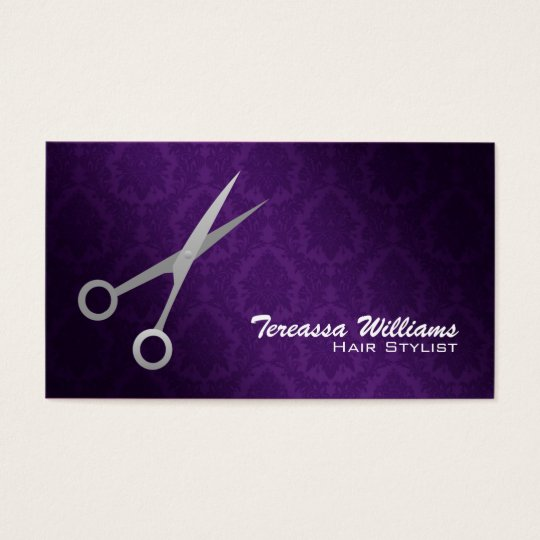 Hairstylist Scissors Business Cards