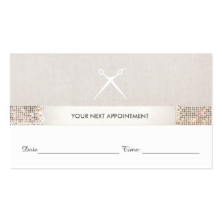 Hairstylist Scissors Sequin Salon Appointment Card Pack Of Standard Business Cards
