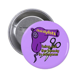 Hairstylists Button