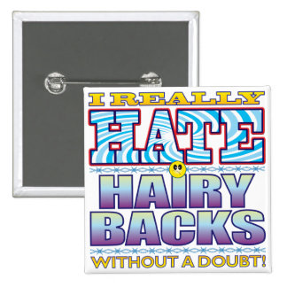 Hairy Backs Hate Face 15 Cm Square Badge