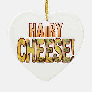 Hairy Blue Cheese Ceramic Heart Decoration