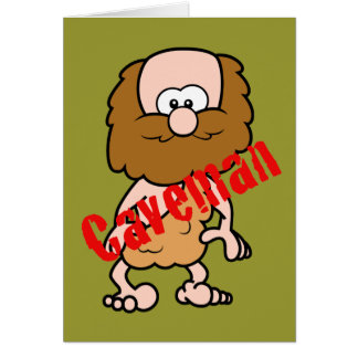 Hairy Caveman Card