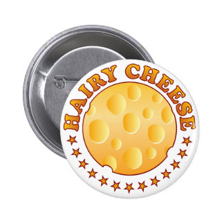 Hairy Cheese Brown 6 Cm Round Badge