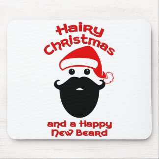 Hairy Christmas, Happy New Beard Mouse Pad