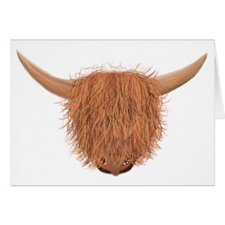 Hairy Highland Cow Greeting Card