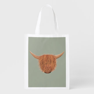 Hairy Highland Cow Reusable Bag
