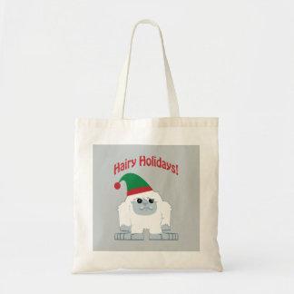 Hairy Holidays! Christmas Yeti Budget Tote Bag