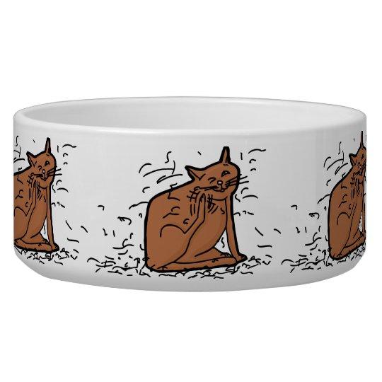 Hairy Kitty Large Pet Bowl