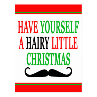 Hairy Little Christmas Post Card