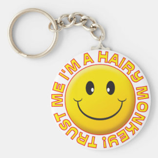 Hairy Monkey Trust Me Smile Key Chains