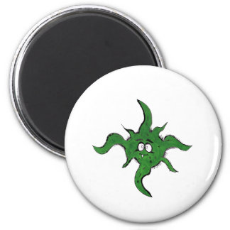 Hairy Monster 6 Cm Round Magnet