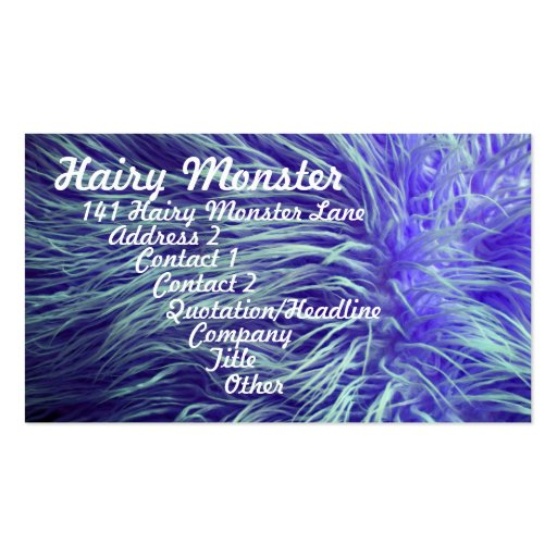 Hairy Monster Business Cards