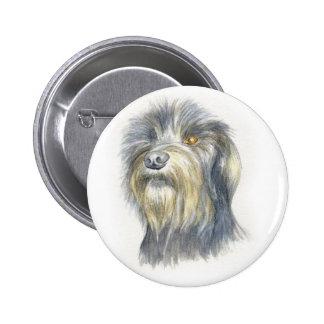 Hairy terrier 6 cm round badge