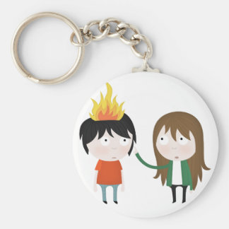 Hairy wildfire key ring