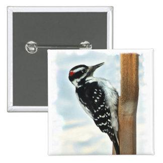 Hairy Woodpecker Button