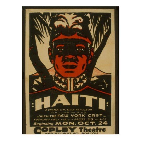Haiti at the Copley Theatre, Postcard