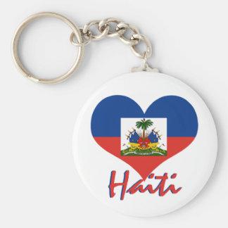 Haiti Basic Round Button Key Ring