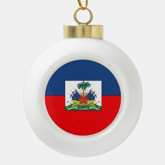 Haiti Ceramic Ball Christmas Ornament