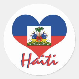 Haiti Classic Round Sticker