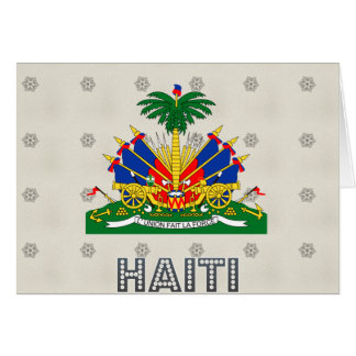 Haiti Coat of Arms Greeting Card