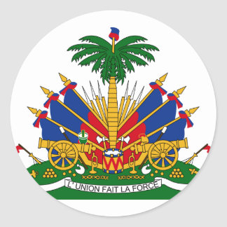 Haiti Coat Of Arms Classic Round Sticker