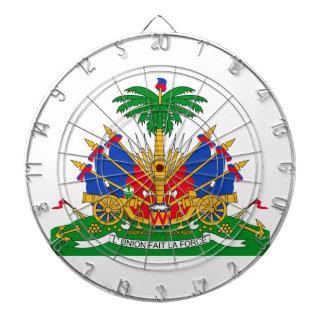 Haiti Coat of Arms Dartboard With Darts