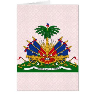 Haiti Coat of Arms detail Card